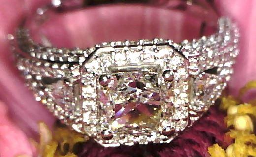 Custom Asscher cut diamond bridal